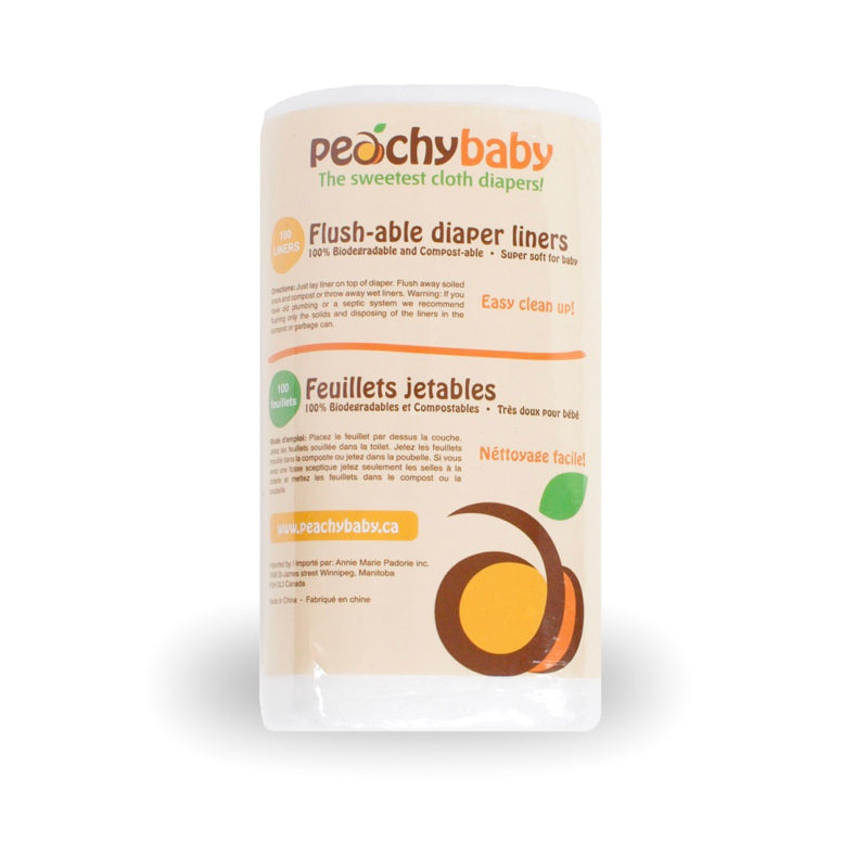 Peachy Baby Flushable Diaper Liners