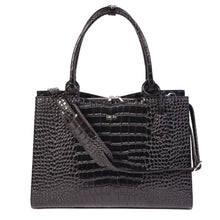 "Laden Sie das Bild in den Galerie-Viewer, SOCHA Laptoptasche Damen 15.6"" - ""Croco Jet Black″"