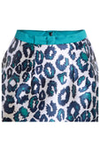 Sea Urchin Leopard Print Party Skirt With Bow Waistband