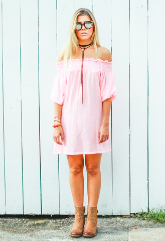 Leonor Silva arizona pink striped dress