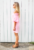 leonor silva arizona pink striped dress side view