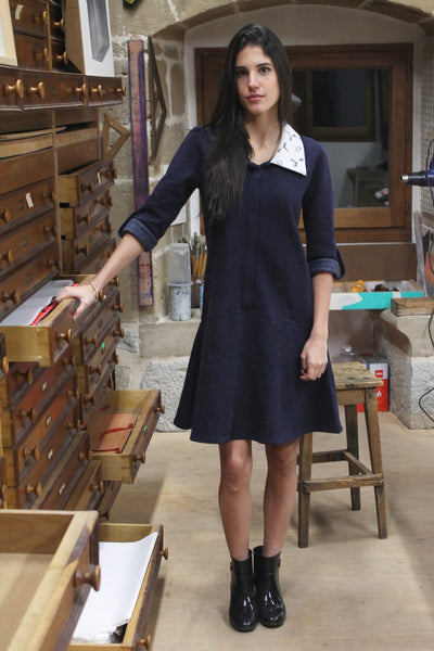 The Dauphine Navy Dress