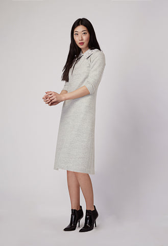 Etain Cream Lace Collar Knit Dress