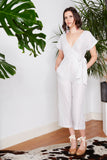 Metallic Striped Party Jumpsuit