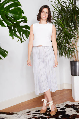 Origami Striped Beach Pants