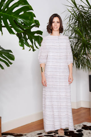Striped Maxi Caftan Dress