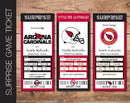 Printable Arizona Cardinals Professional Football Game Gift Reveal - Kaci Bella Designs