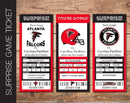 Printable Atlanta Falcons Professional Football Game Gift Reveal - Kaci Bella Designs