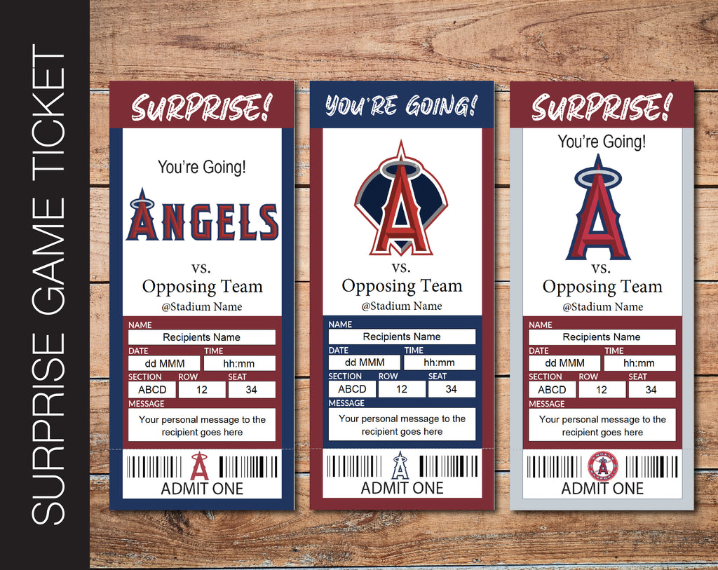 Printable template Baseball Ticket Birthday Gift INSTANT DOWNLOAD with EDITABLE Surprise Ticket to a Baseball Game Gift Voucher