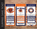 Printable Chicago Bears Professional Football Game Gift Reveal - Kaci Bella Designs