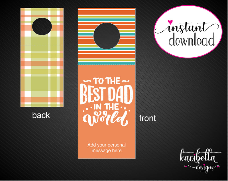Printable Father's Day Themed Beer Bottle Personalized Gift Tags - Kaci Bella Designs