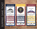 Printable Denver Nuggets Professional Basketball Game Gift Reveal - Kaci Bella Designs