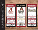 Printable Arizona Diamond Backs Professional Baseball Game Gift Reveal - Kaci Bella Designs