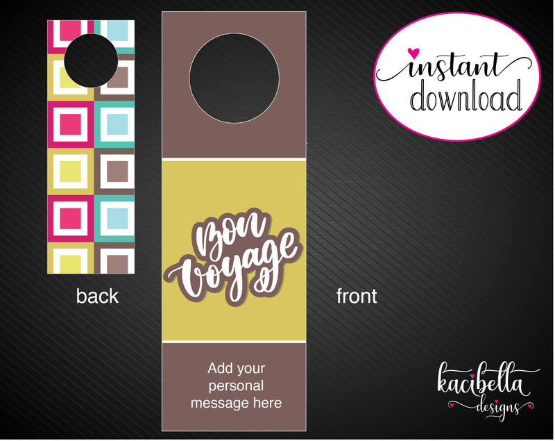 Printable Farewell Personalized Double-Sided Wine Bottle Gift Tags - Kaci Bella Designs