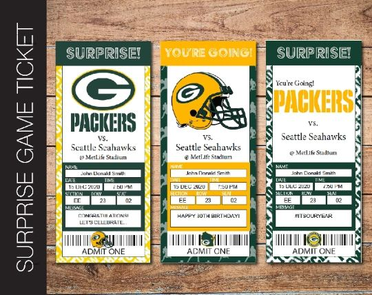 Printable Green Bay Packers Professional Football Game Gift Reveal - Kaci Bella Designs