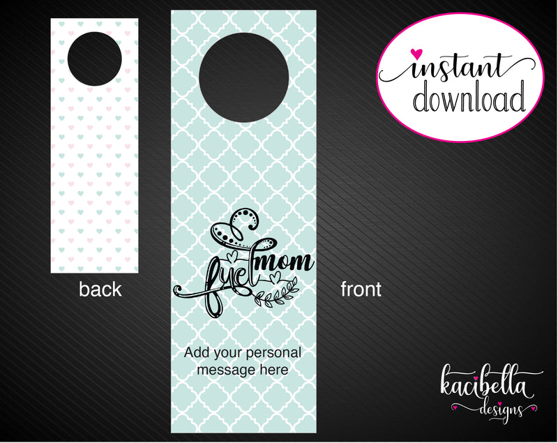 Printable Super Mom Personalized Double-Sided Wine Bottle Gift Tags - Kaci Bella Designs