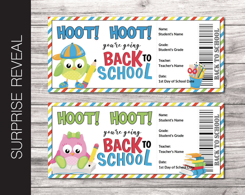 Printable Back-To-School Surprise Return to School and Teacher Reveal - Kaci Bella Designs