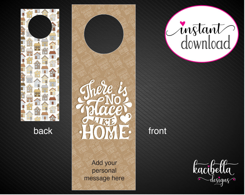 Printable Housewarming Personalized Double-Sided Wine Bottle Gift Tags - Kaci Bella Designs