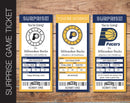 Printable Indiana Pacers Professional Basketball Game Gift Reveal - Kaci Bella Designs