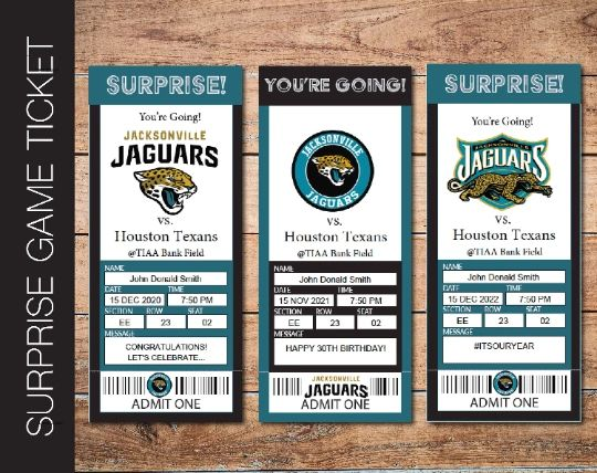 Printable Jacksonville Jaguars Professional Football Game Gift Reveal - Kaci Bella Designs