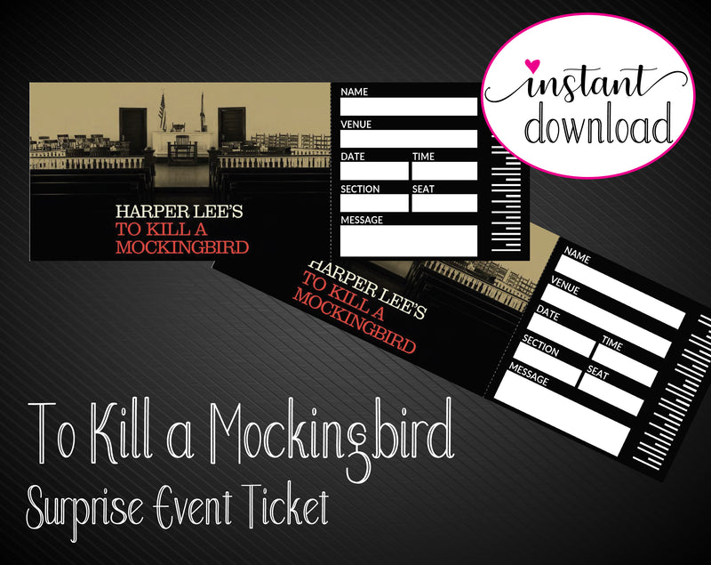 Printable To Kill A Mockingbird Broadway Show Gift Reveal - Kaci Bella Designs