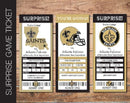 Printable New Orleans Saints Professional Football Game Gift Reveal - Kaci Bella Designs