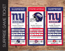Printable New York Giants Professional Football Game Gift Reveal - Kaci Bella Designs