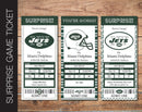 Printable New York Jets Professional Football Game Gift Reveal - Kaci Bella Designs