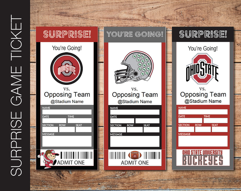 Printable Ohio Sate Buckeyes College Game Gift Reveal - Kaci Bella Designs