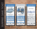 Printable Orlando Magic Professional Basketball Game Gift Reveal - Kaci Bella Designs