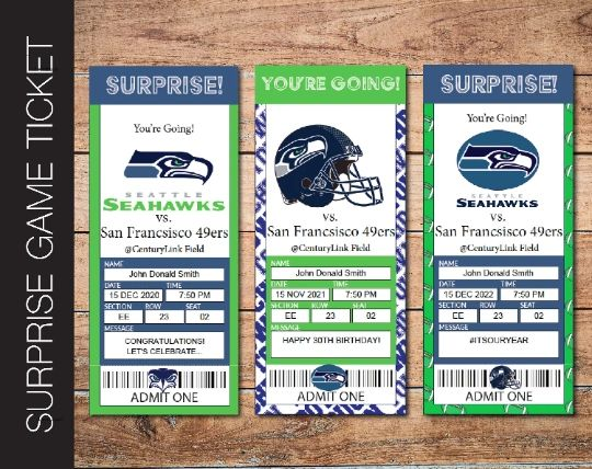 Printable Seattle Seahawks Professional Football Game Gift Reveal - Kaci Bella Designs