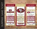 Printable San Francisco 49ers Professional Football Game Gift Reveal - Kaci Bella Designs