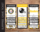 Printable Pittsburgh Steelers Professional Football Game Gift Reveal - Kaci Bella Designs