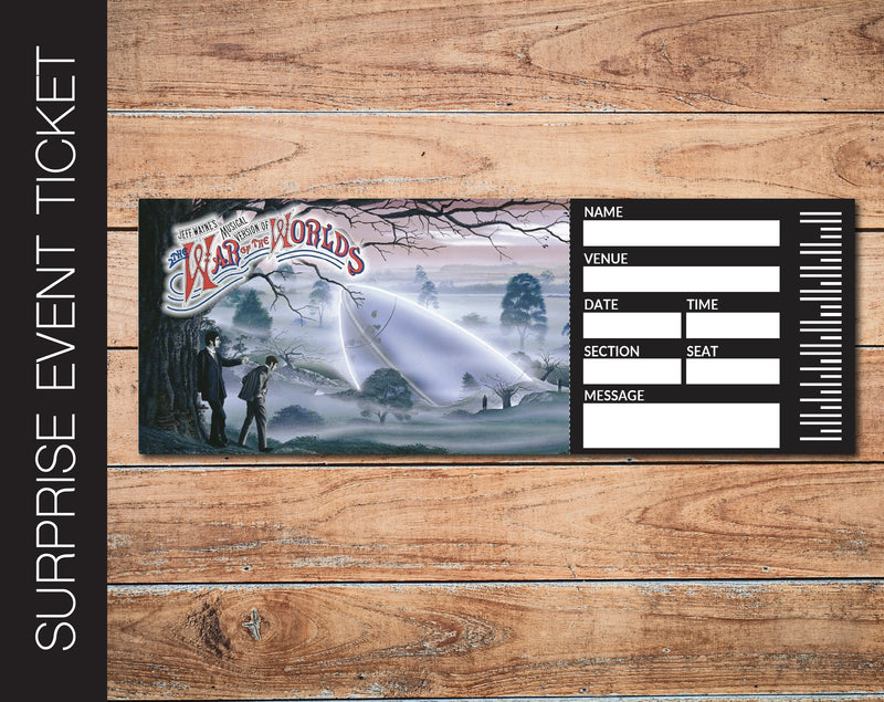Printable War of the Worlds Broadway Show Gift Reveal - Kaci Bella Designs