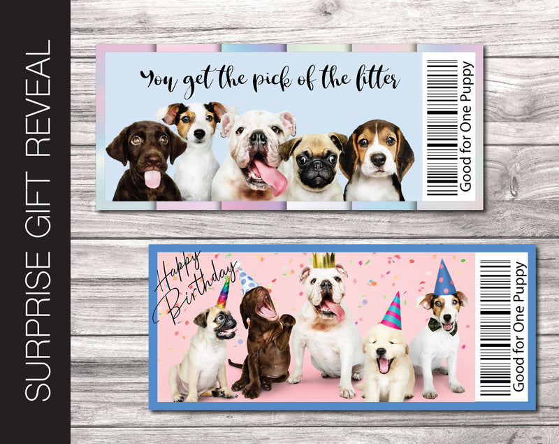 Printable New Puppy / Dog Gift Reveal - Kaci Bella Designs