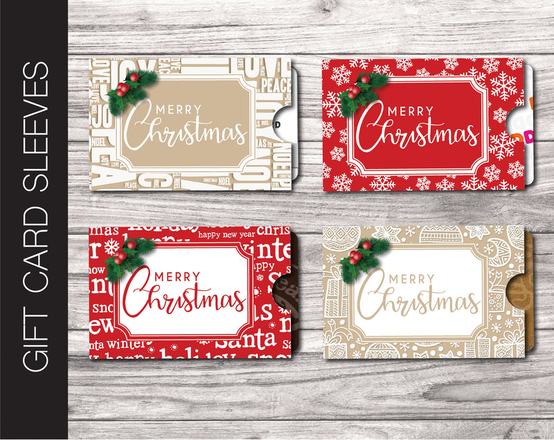Printable Personalized Christmas Gift Card Sleeve - Kaci Bella Designs