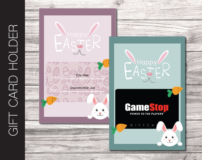 Printable Easter Gift Card Holder - Kaci Bella Designs
