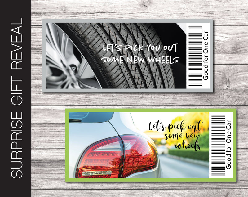 Printable New Car Gift Reveal - Kaci Bella Designs