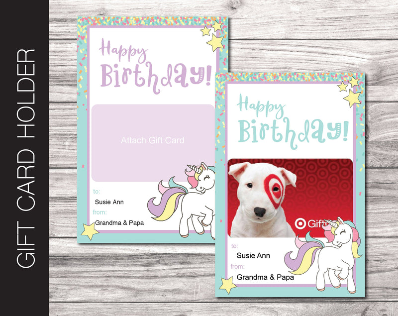Printable Birthday Gift Card Holder - Kaci Bella Designs