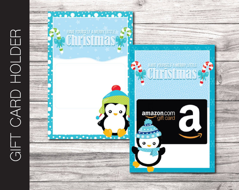 Printable Christmas Gift Card Holder - Kaci Bella Designs