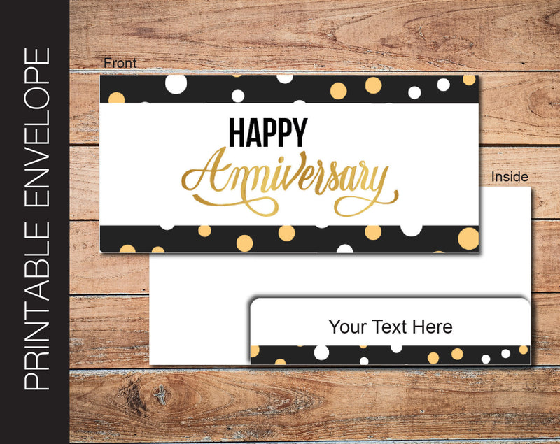Printable Anniversary Gift Ticket Envelope - Kaci Bella Designs