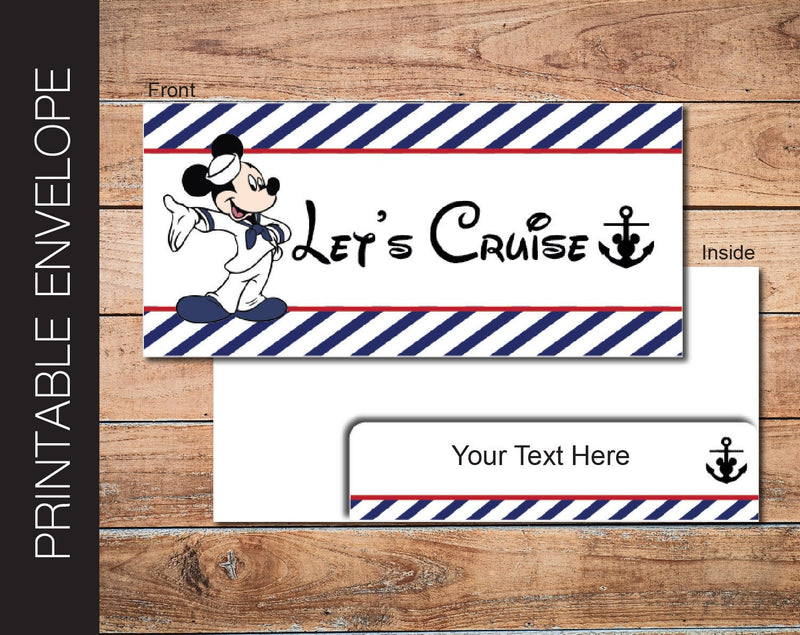 Printable Cruise Gift Envelope - Kaci Bella Designs