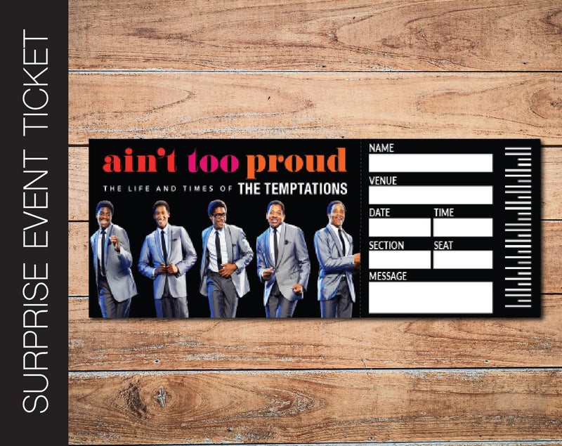 Printable Ain't Too Proud Broadway Show Gift Reveal - Kaci Bella Designs
