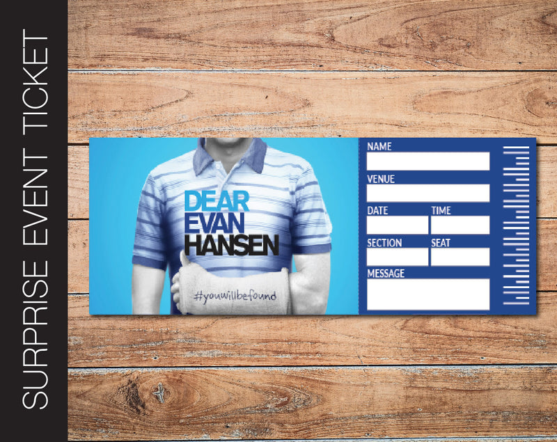 Printable Dear Evan Hansen Broadway Show Gift Reveal - Kaci Bella Designs