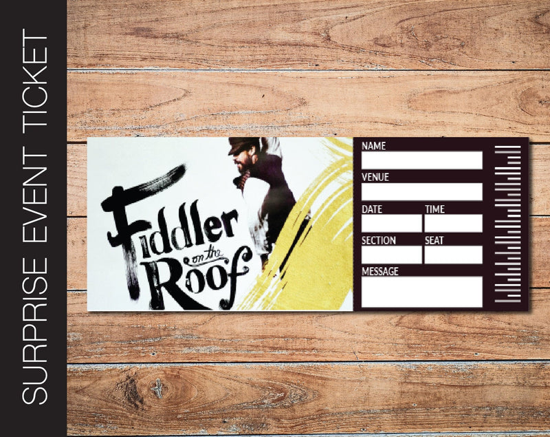 Printable Fiddler on the Roof Broadway Show Gift Reveal - Kaci Bella Designs
