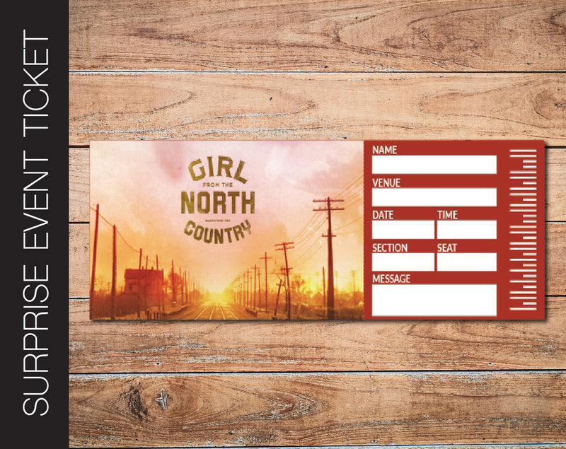 Printable Girl from the North Country Broadway Show Gift Reveal - Kaci Bella Designs