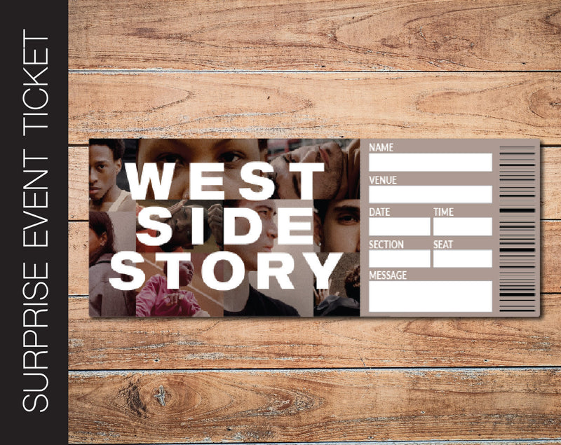 Printable West Side Story Broadway Show Gift Reveal - Kaci Bella Designs