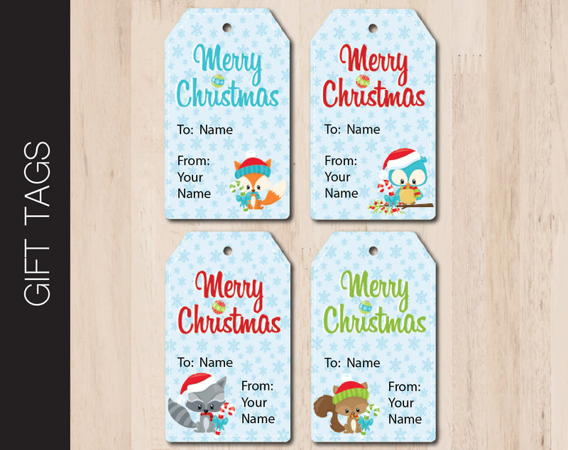 Printable Christmas Gift Tags - Kaci Bella Designs