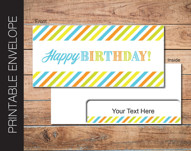 Printable Birthday Gift Ticket Envelope - Kaci Bella Designs