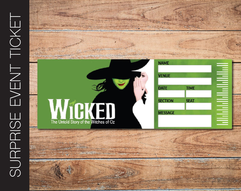 Printable Wicked Broadway Show Gift Reveal - Kaci Bella Designs